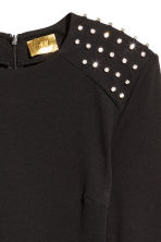 Fitted dress - Black/Sparkly stones - Ladies | H&M 3